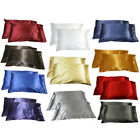 Silk Satin Soft Pillow Case Cover Queen Standard Home Room Sofa Decor Nice image