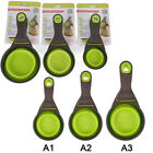 Pro Folding Silicone Pet Dog Sealing Clip Collapsible Measuring Cup Food Scoop