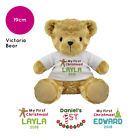 Personalised Name 1st First Christmas Victoria Teddy Bear Baby Stocking Filler