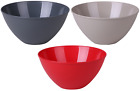 Large 4.5 Litre Plastic Mixing Bowls. In Red Colour Taupe  Or Grey Bowls