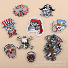 Skull Badge Embroidered Iron on Patch Ghost Appliques Cool Punk DIY Shirt Crafts $1.86 USD on eBay