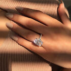 New Women Big Oval Cubic Zirconia Plated Engagement Proposal Finger Ring Precio