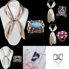 Fashion Silver Scarf Ring Buckles Brooch Gift Electroplate Pins for Silk Scarves