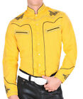 Cowboy Shirt Long Sleeve Montenegro Camisa Vaquera Color Yellow