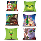 Grinch Pillow Case How the Grinch Stole Christmas Plush Pillow Cover Kids Gifts  image