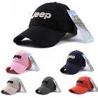 Mens Womens Casual Hat Golf Jeep Embroidery Baseball Sport Adjustable Cotton Cap