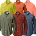"New Mens Columbia PFG ""Bahama II"" Omni-Shade Vented Long Sleeve Fishing Shirt"
