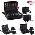 US Professional Makeup Bag Cosmetic Case Storage Handle Travel Organizer Kit BS