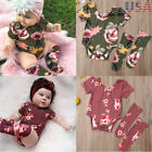 US 2PCS Newborn Infant Baby Girl Outfits Clothes Set Romper Bodysuit Leg Warmer