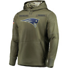 Men's New England Patriots Olive Salute to Service Sideline Therma Hoodie on eBay