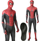SpiderMan Far From Home Costume Spiderman Zentai Adult Men Jumpsuit With Sole