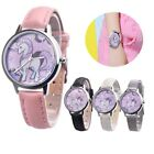Unicorn Watch Girls Kids Watches Children's Gift Leather Cartoon Band Wristwatch image
