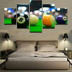 Color Billiards Balls 5 Piece Canvas Art Wall Art Picture Painting Home Decor $19.0 USD on eBay