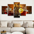 Vintage Tea Pot and Cup 5 Pieces Canvas Art HD Print Picture Home Wall Decor