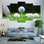 Golf Ball & Club in Green Grass  5 Pcs Canvas Wall Art Print Picture Home Decor