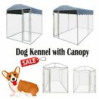 Large Dog House Kennel Steel Cage Cover Pen Shelter Outdoor Pet Canopy 13'x6' US