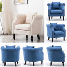 Chesterfield Comfy Sofa Fabric Seater Armchair Studs Chair Living Bedroom Lounge