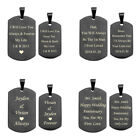 2pc Engraved Custom Steel Dog Tag Pendant Necklace Boyfriend Girlfriend Gift Hot