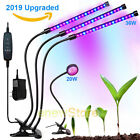 One Head Three Head Timing Plant Lamp LED Grow Tube 20W 36W Dimmable For Plants