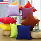 Stock Plain Solid Throw Home Decor Pillow Case Bed Sofa Waist Cushion Cover image