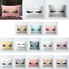 US Glitter Eyelash Lash Home Sofa Room Decor Pillow Cover Case Cushion Cover image