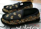 MEN'S HOUSE SHOES PAISLEY BANDANA  TIGER  BLACK / YELLOW