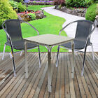3pc/5pc Bistro Sets Outdoor Garden Furniture Square Round Stacking Tables Chairs