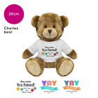 Personalised Name Congratulations Charles Teddy Bear Well Done GCSE Exam Gifts
