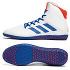 Adidas 2019 Mat Wizard 4 Limited Edition White/Royal/Red Wrestling Shoes