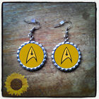 Star Trek bottle cap earrings on eBay