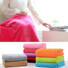 Bedroom Decor Solid Flannel Soft Warm Plush Blanket Throws Rug Sofa Bedding Sale image