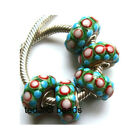 Wholesale Silver Lampwork Murano Glass Beads Fit European Charm Bracelet TF270