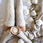 US New Women Girls Cable Knit Long Boot Socks Over Knee Thigh High Warm Stocking