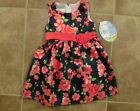 NEW American Princess Toddler Girls Navy Floral Dress 2T 3T Party Holiday NWT