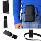 Premium Holster Pouch PU Leather Belt Clip Carrying Case Cover For Cell Phones
