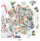 40pcs DIY Planner Scrapbook Stickers Vintage Flowers Snacks Travel Journal Decor