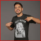 Dolly Parton Black And White Portrait T-shirt Country Music Fan Black Cotton Tee