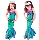 The Little Mermaid Ariel Cosplay Party Costume Princess Fancy Dress for Girl Kid