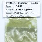 Lapidary Grinding Diamond Powder, Size 325 to 50 Grit, Weight 25 Carats = 5 Gram