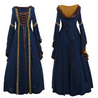 US SHIPPING Medieval Renaissance Maiden Dress Gown with Hood medieval dress