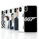 James Bond White Rubber Mobile Phone Case Cover Fits Iphone 4 5 6 7 8 X £3.95 GBP on eBay