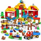 Kids Big Size Building Blocks Bricks Happy Farm Happy Zoo With Animals