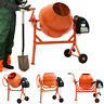 More images of 63 / 120 / 140 L Electric Cement Mixer 550W Portable Concrete Mortar Mixing Machine