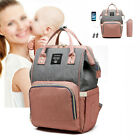 LEQUEEN Mummy Maternity Baby Nappy Diaper Bag Large Travel USB Backpack Tote
