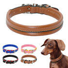 Soft Leather Dog Collar Small Medium X-Small Poodle Beagle Pug Dachshund