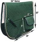 Derby Dressage Australian Saddle Pad with Pockets and Half Fleece Lining