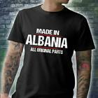 Made In Albania All Original Parts Men T-Shirt Black Cotton S-5XL