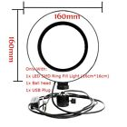 64pcs LED Ring Light with Stand 5500K Dimmable Lighting  for Makeup Phone Camera