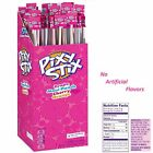 4 GIANT PIXY STIX CANDY FILLED STRAWS assorted FLAVORS NO ARTIFICIAL FLAVORS