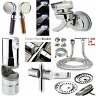 Chrome Shower Rail Head Slider Holder Bracket, Chrome Shower Head Hose Pipe